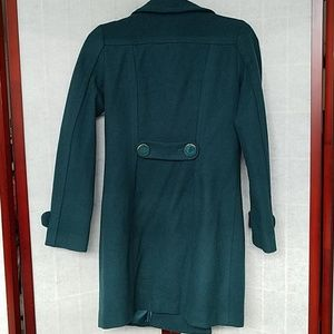 H&M Jackets & Coats - H&M Forest green knee-length pea coat. Size 6